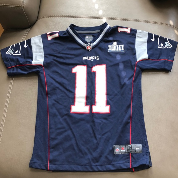 finest selection 65c7b 161f5 Youth Julian Edelman authentic super bowl jersey